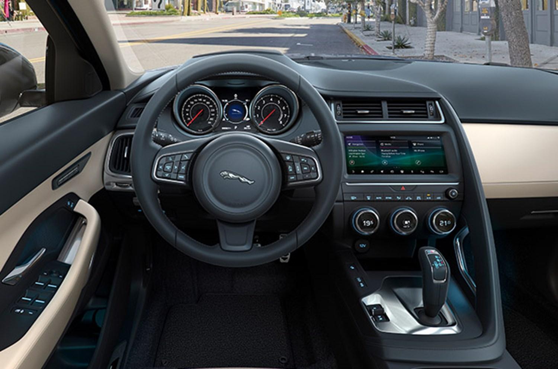 Jaguar Steering Wheel and dashboard