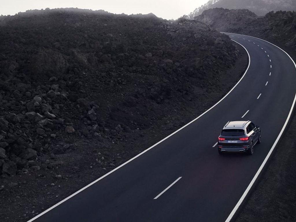 New Cupra Ateca 2020 driving on an open road