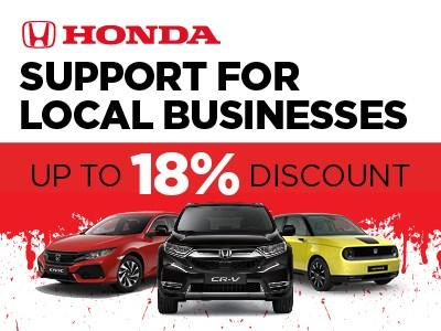 Honda Support for Local Business Discount