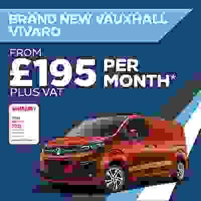 Brand New Vauxhall Van Offer - Vivaro