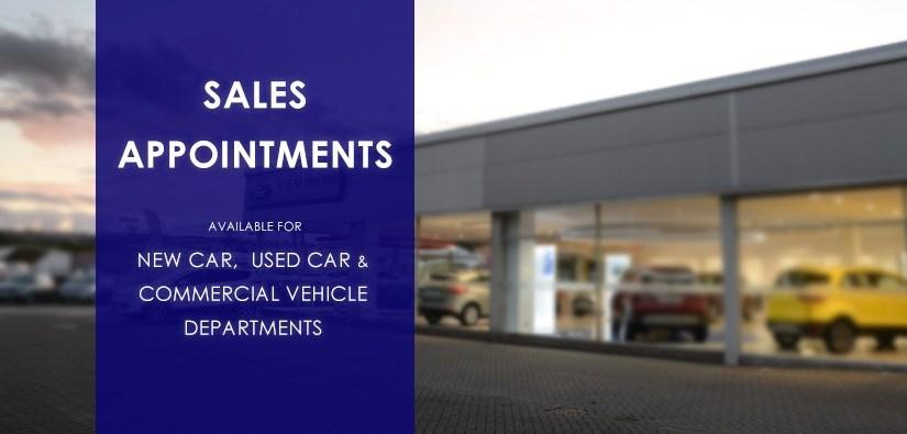 Sales Appointment Bookings Now Being Taken