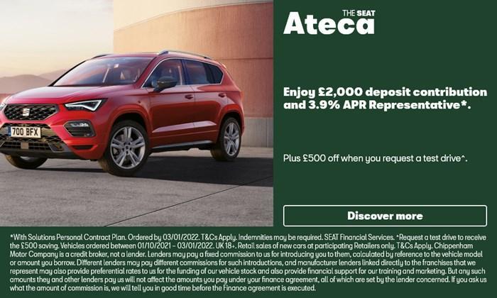 SEAT Ateca with £2000 deposit contribution