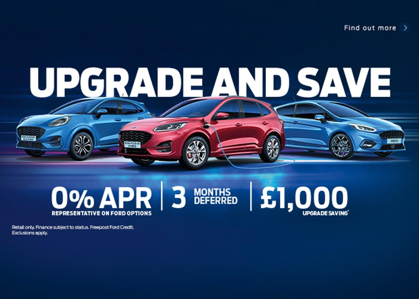 Ford Kuga, Ford Puma, Ford Fiesta with offer