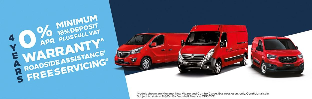 Red Vauxhall Vans Offer
