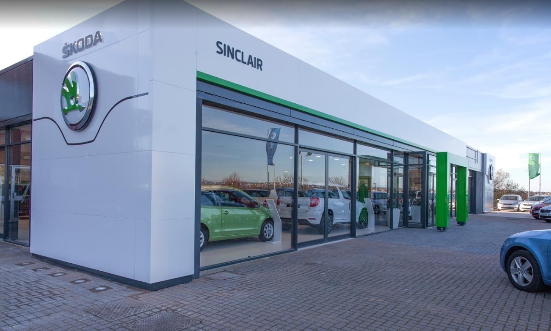 Sinclair Skoda Dealership Exterior