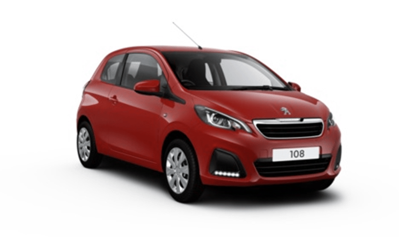 Peugeot 108 From £NIL Advance Payment