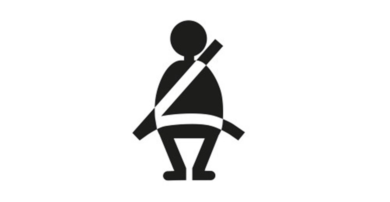 Seatbelt buckles warning light