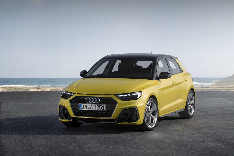 Yellow Audi A1