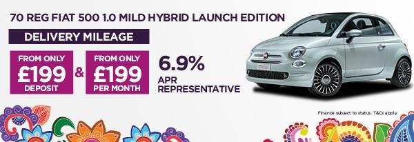 70 REG Fiat 500 1.0 Launch Edition Mild Hybrid