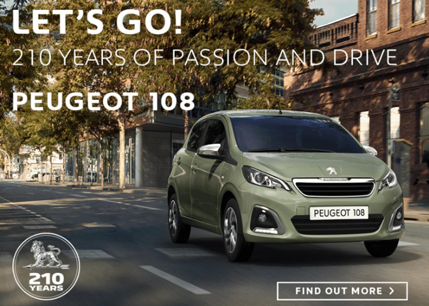 Peugeot 108 at Chippenham Motor Company