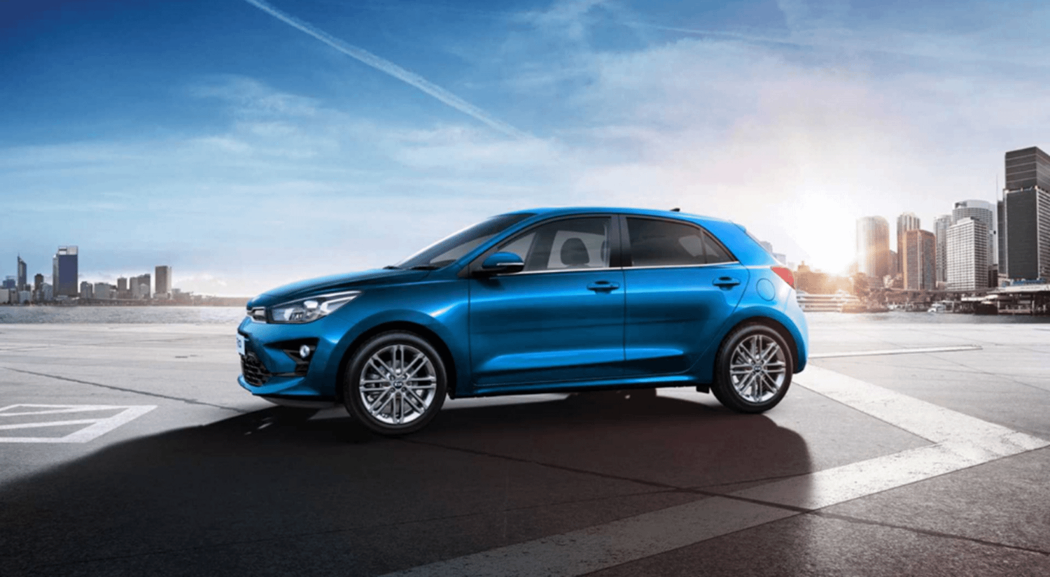 New Kia Rio 2021 in blue