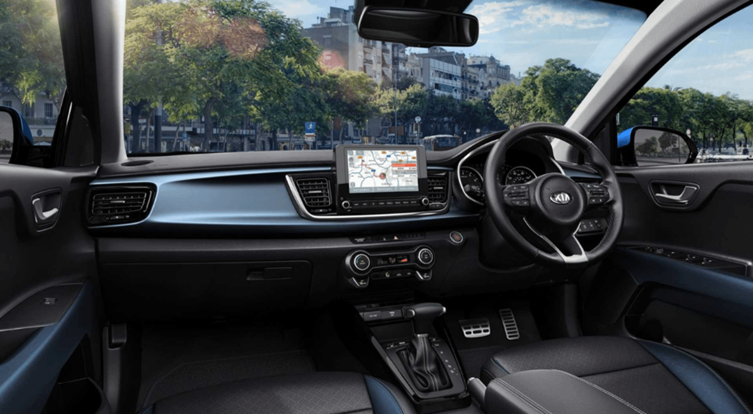 New Kia Rio 2021 inside cockpit