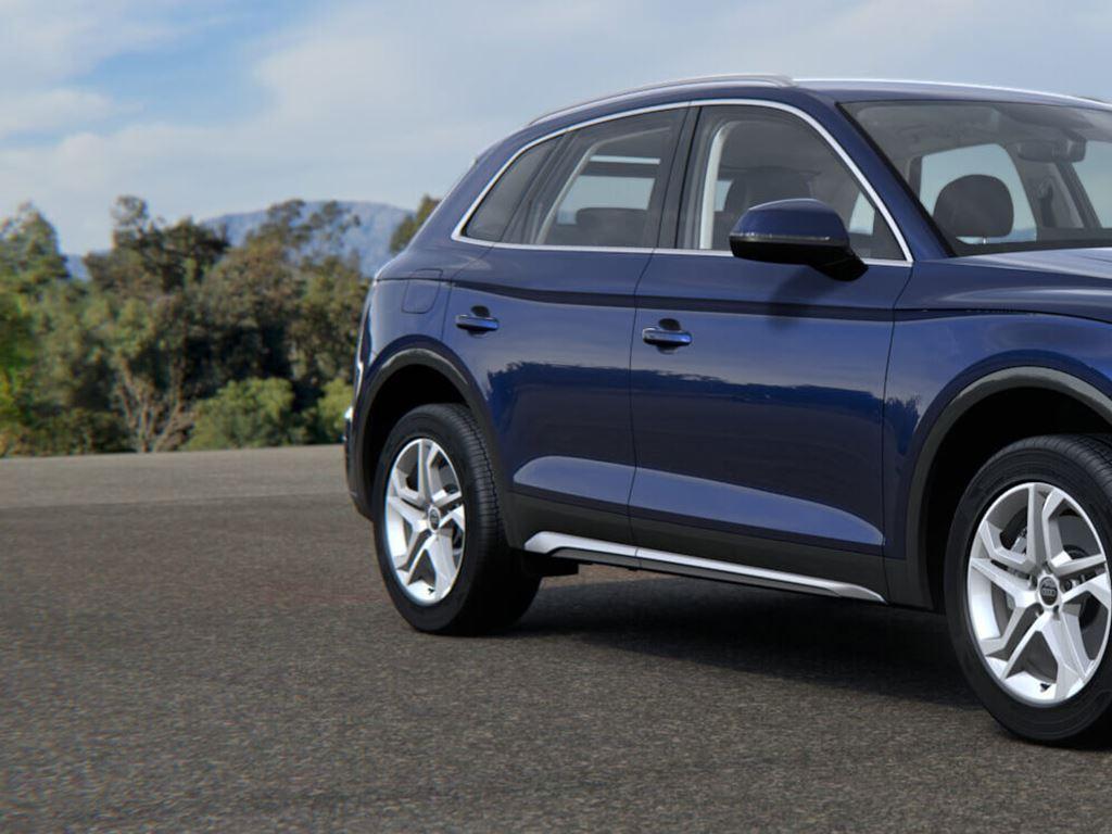New Blue Audi Q5 parked