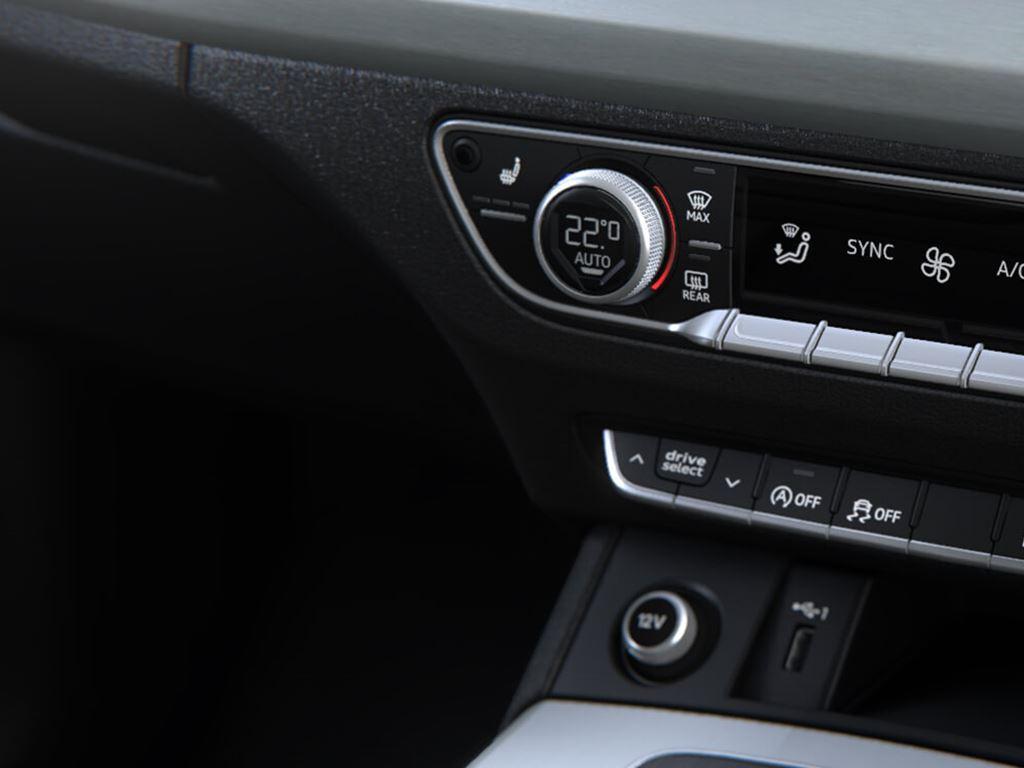 New Q5 interior climate control