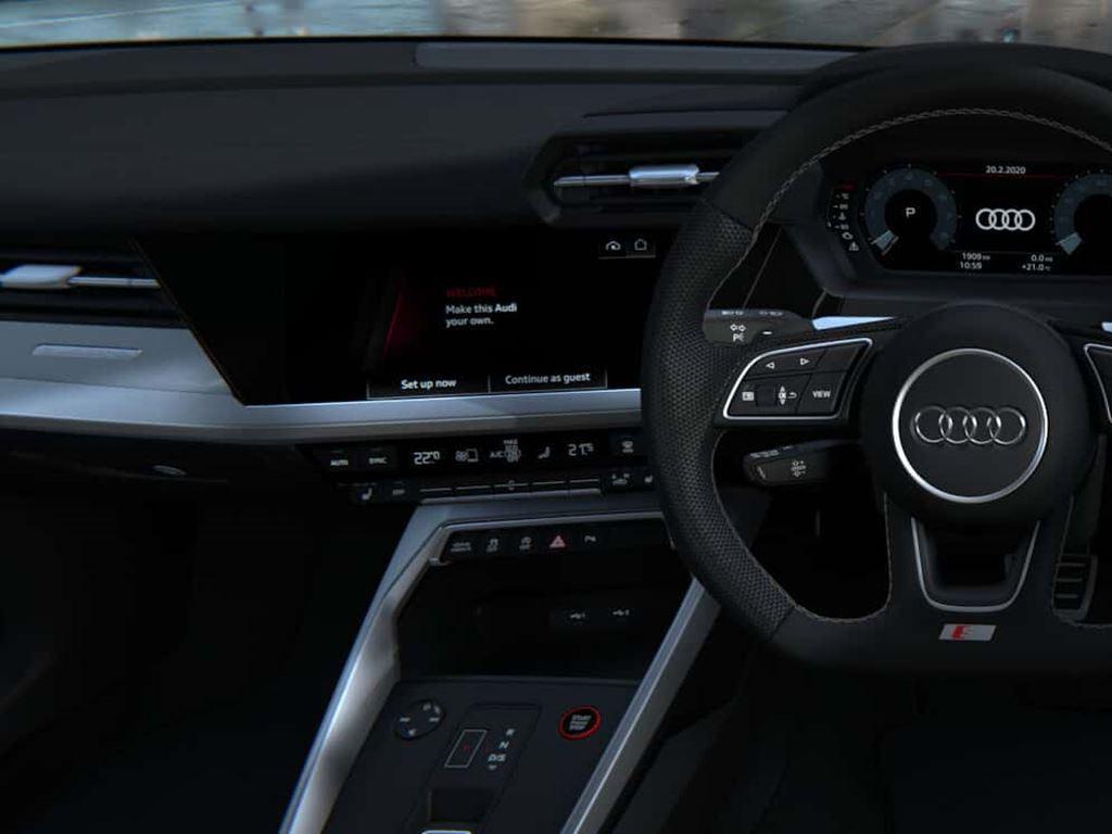 New Audi S3 Sportback Steering wheel and dashboard