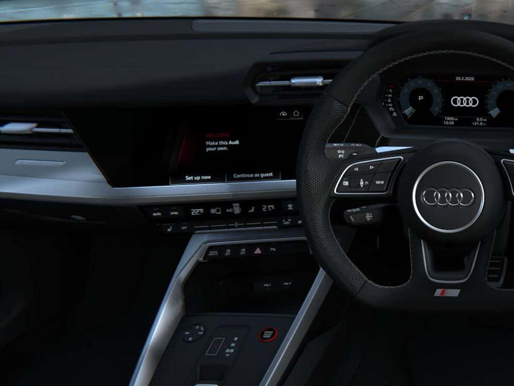 S3 Saloon Steering Wheel and dashboard