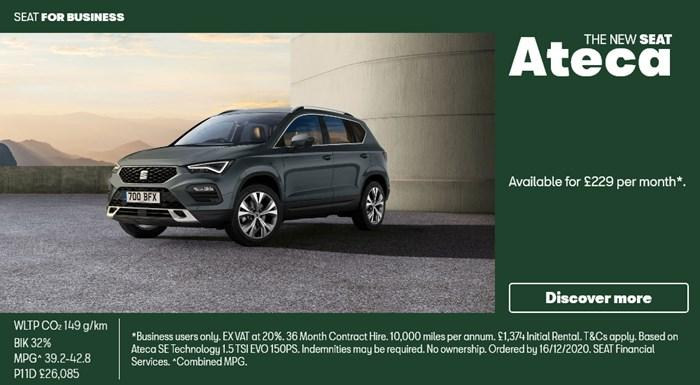 SEAT Ateca from £229 per month for Business Users