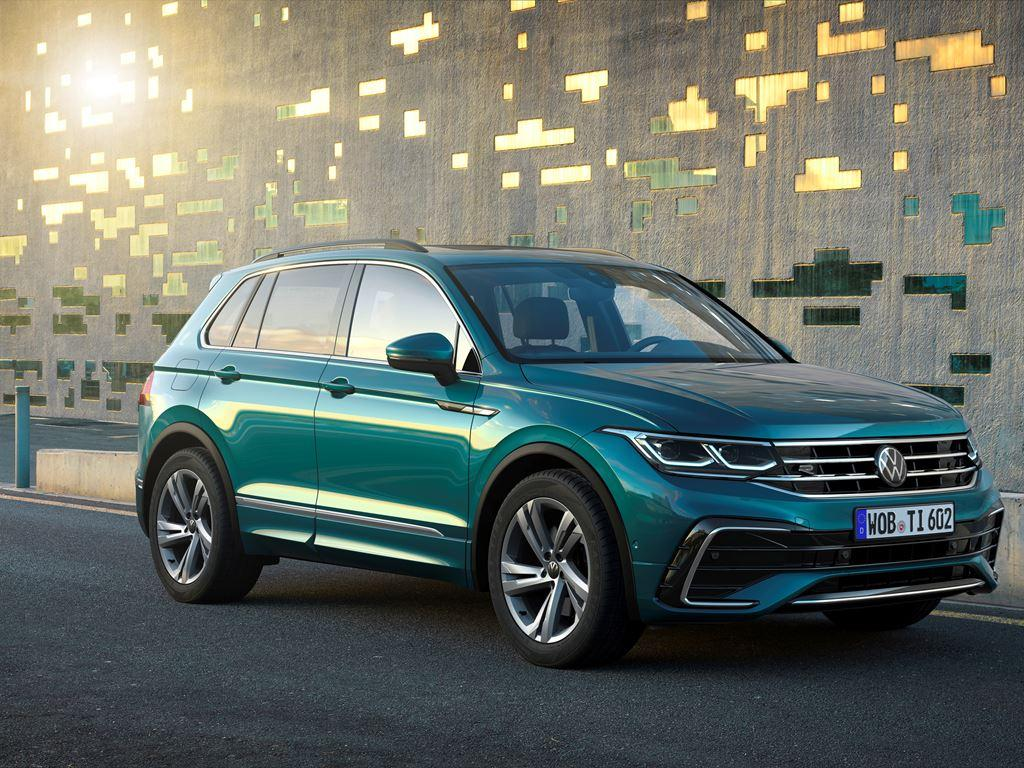New VW Tiguan on the road