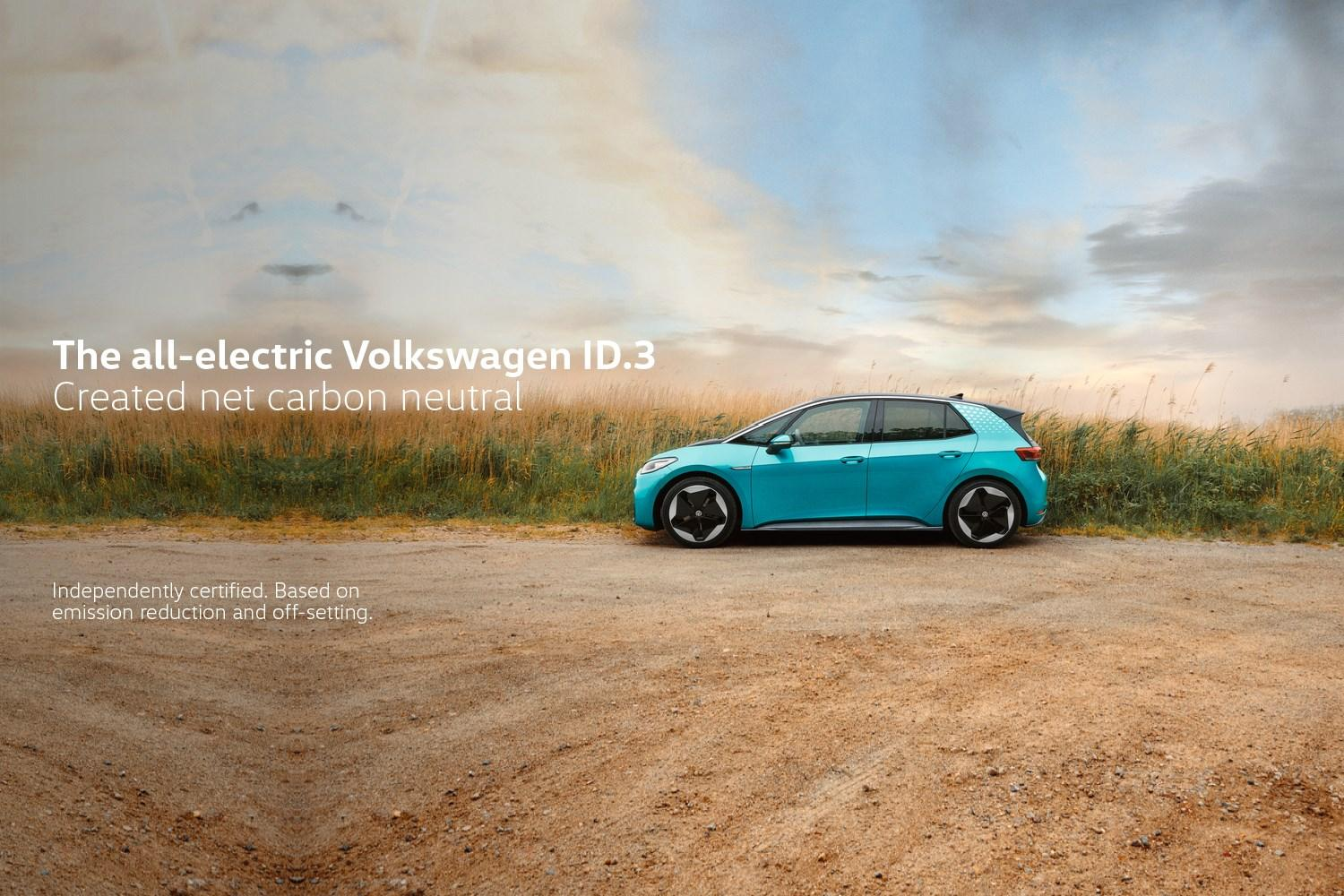 Electric Id.3 Carbon Neutral in turquoise