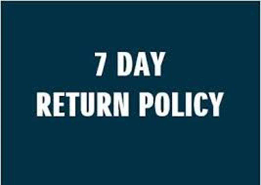 7 Day Return on new