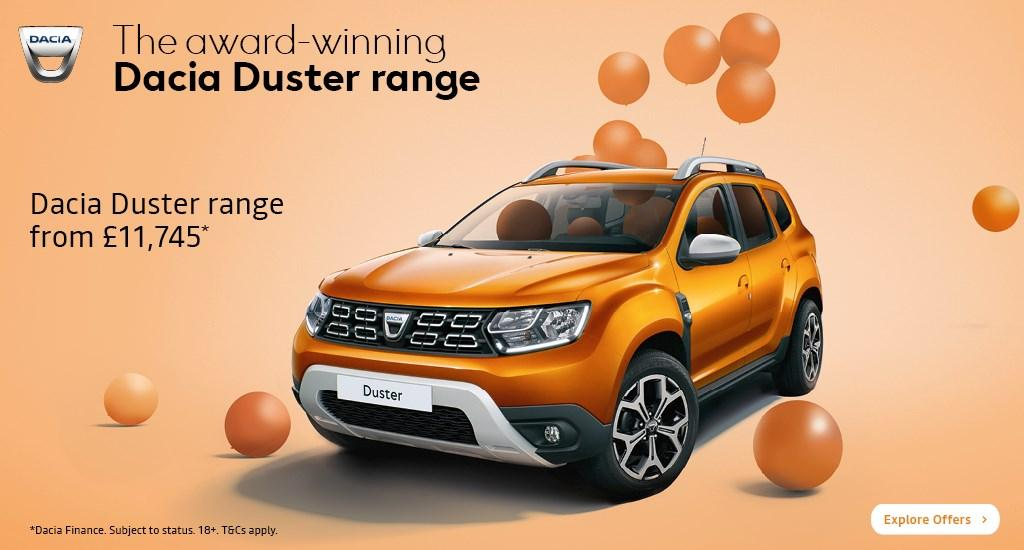 The Dacia Duster Range of offers at Richard Sanders Kettering and Northampton