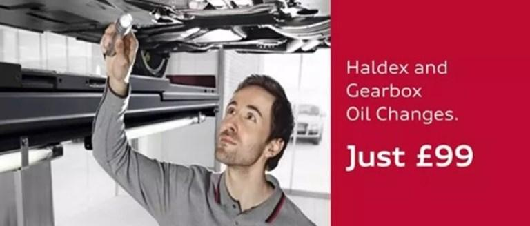 Haldex & Gearbox Oil Changes