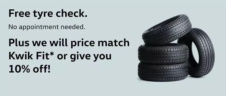 Free Tyre Check At Caffyns Volkswagen