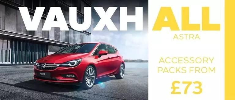 Vauxhall Astra Accessory Packs