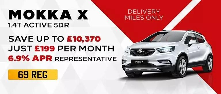 69-REG Mokka X Active With Delivery Miles Only