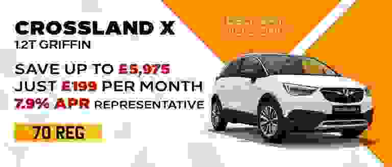 70-REG Crossland X Griffin With Delivery Miles Only