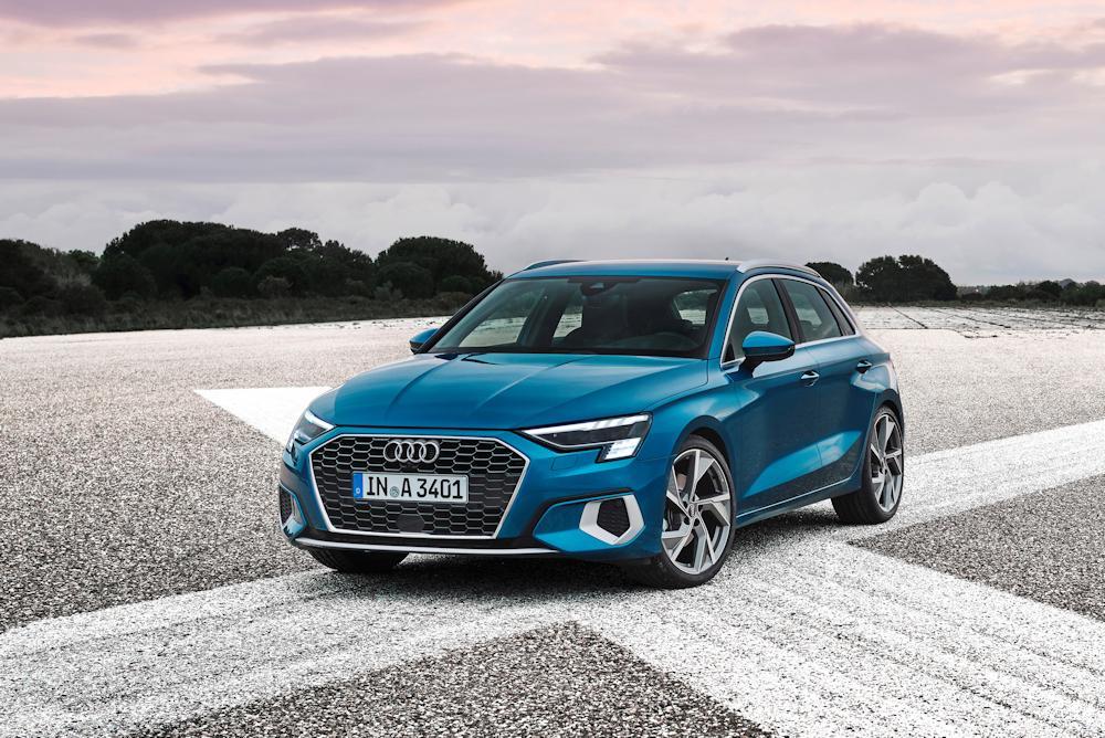 Blue Audi A3