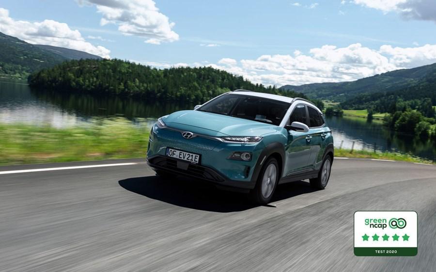 Hyundai Kona Electric awarded five-star Green NCAP rating