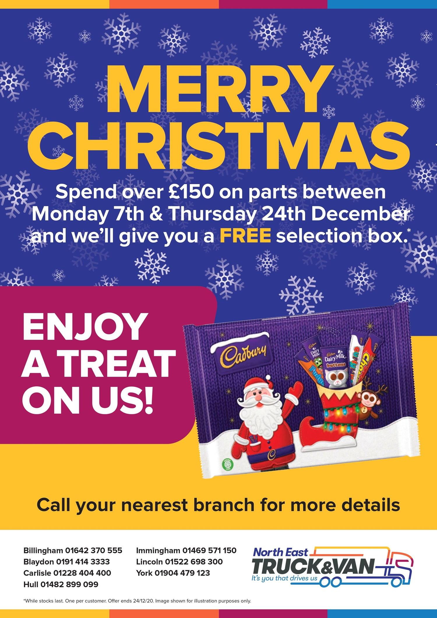 Free Selection Box offer at North East Truck and Van