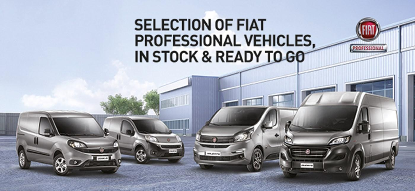 Fiat Professional Vehicles in stock