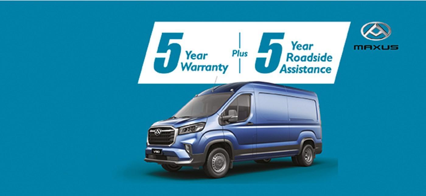 Maxus 5 year warranty