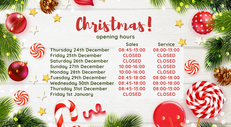 Chippenham Motor Company Christmas Opening Hours 2020