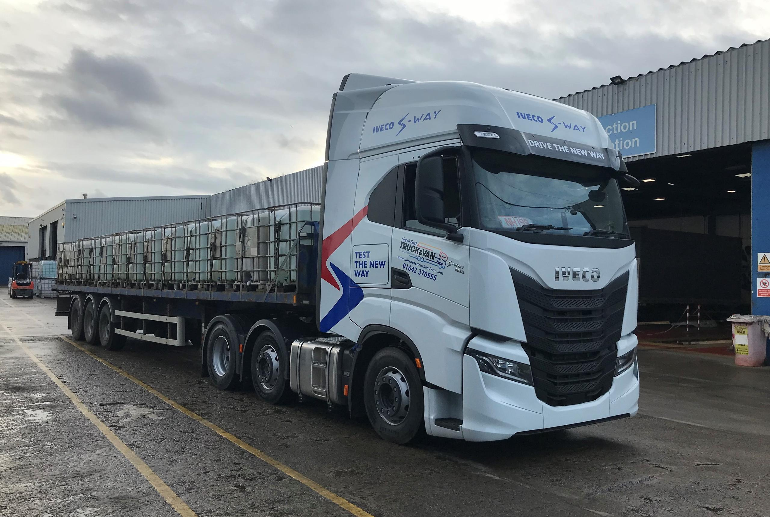 First IVECO S-WAY road tested at North East Truck and Van