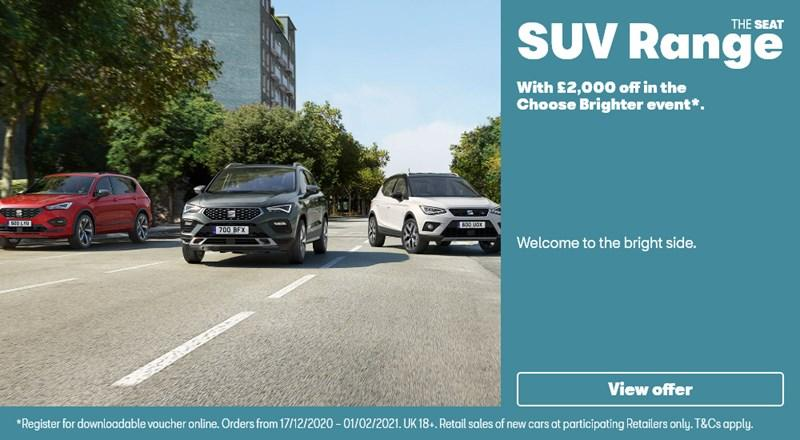 SEAT SUV range with £2000 off