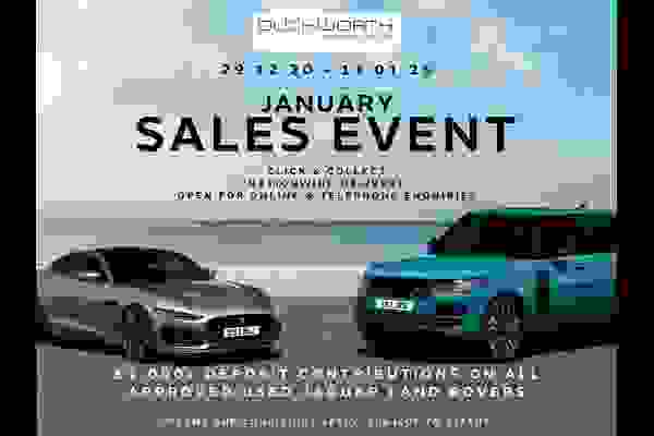 Duckworth January Sales Event - up to £1,000 Deposit Contribution on  all Approved Used Vehicles. Fully Open for Online & Telephone enquiries.