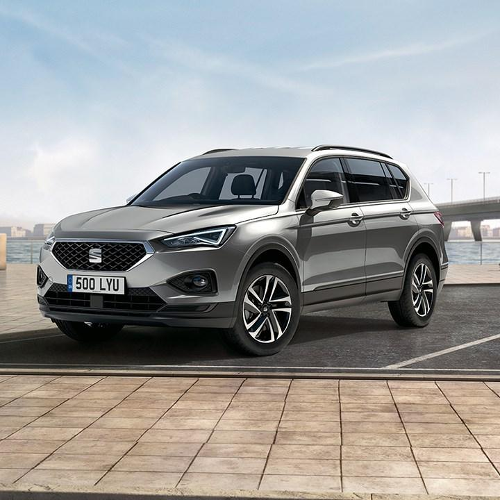 Parked silver SEAT Tarraco