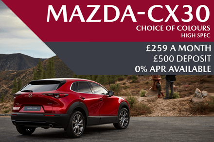 All-New Mazda CX-30 - Now Available For £259 A Month With £500 Deposit And 0% Finance Available
