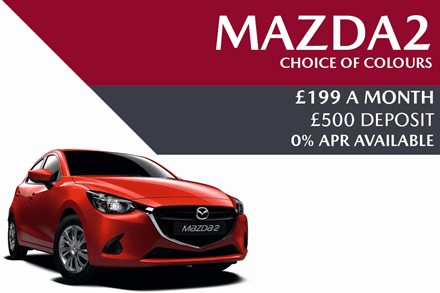 Mazda2 - Now £199 A Month With £500 Deposit And 0% Finance Available