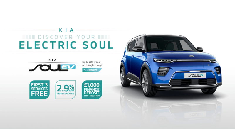 All-New Kia Soul EV from £350 per month