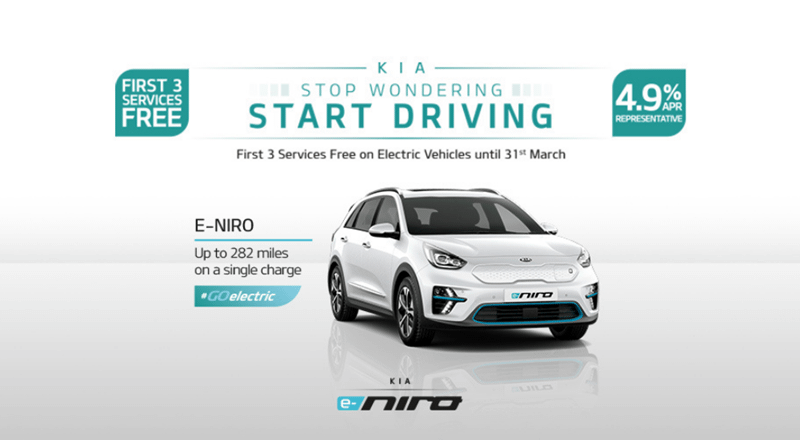 Kia e-Niro from £399 per month with 3 free services