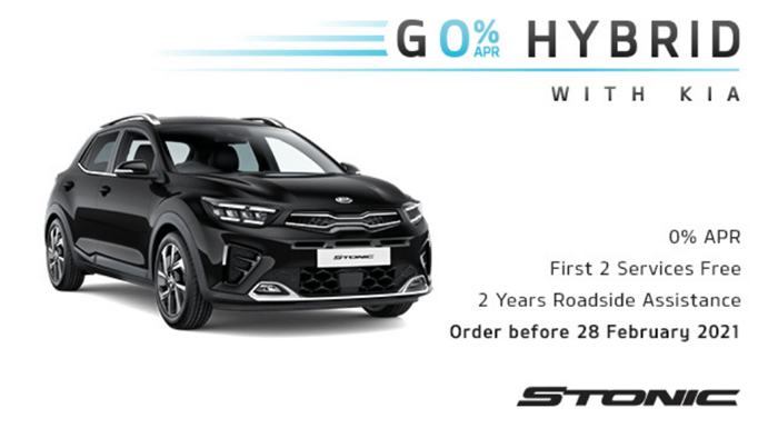 Kia Stonic with 0% APR - from £199 per month