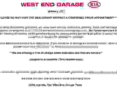 WEST END GARAGE LOCKDOWN 3 UPDATE 05/01/2021