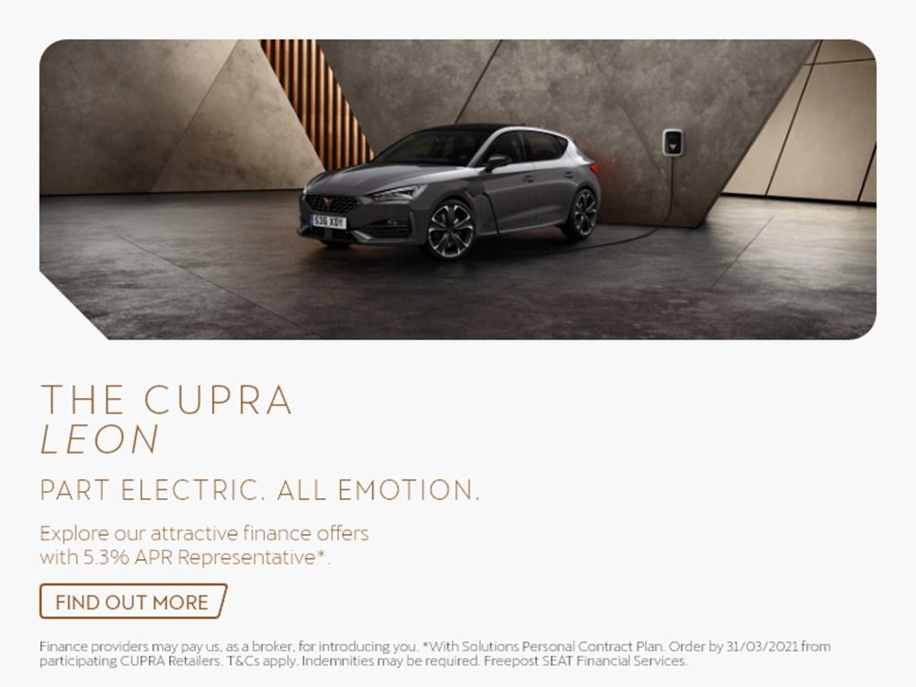 Cupra Leon New Car Offer Banner