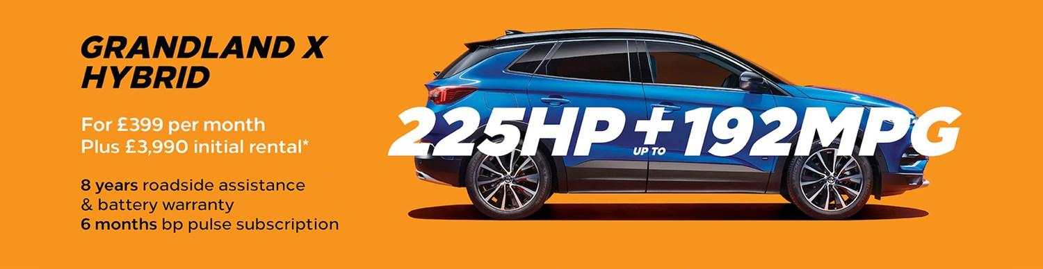 Grandland X Hybrid from £399 per month with £3,990 initial rental