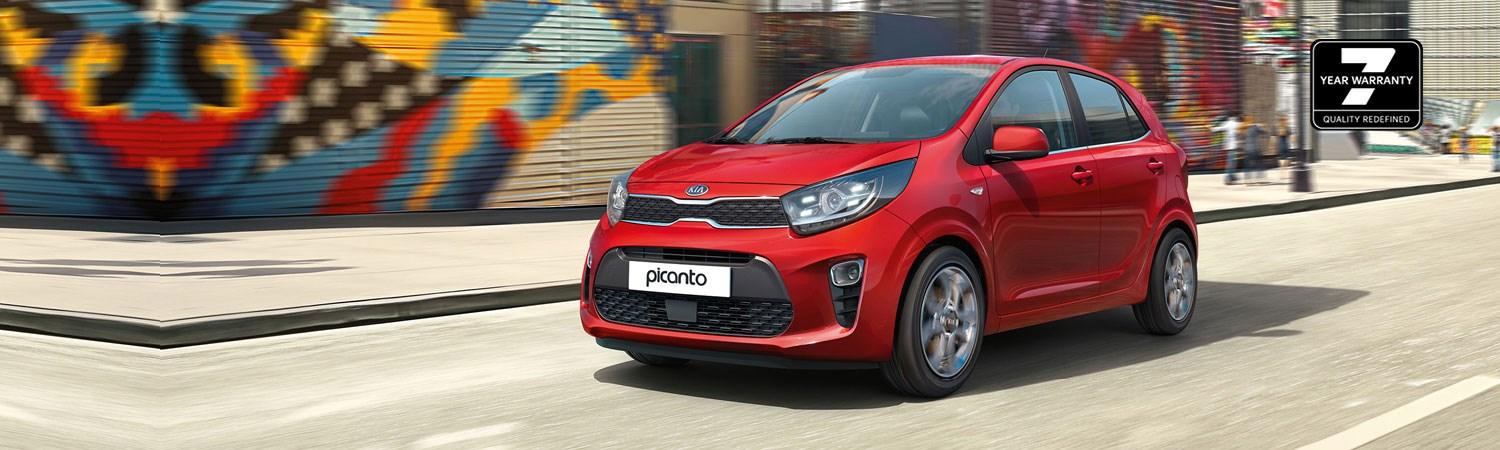 New Picanto with new 7 Year warranty logo