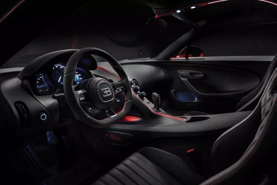 inside of bugatti chiron
